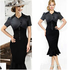 Celebrity Women Vintage Style 50s 60s Pencil Mermaid Party Bodycon Evening Dress