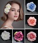 blooming rose hair flower bridal hair clip brooch wedding bridesmaid headpiece