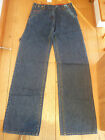 TOAST WASHED INDIGO BLUE CINCH BACK WIDE LEG COTTON CARPENTER JEANS UK 8 R T6SC