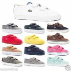 Lacoste Kid's Boys Girls Marcel Vaultstar Velcro Strap Canvas Shoes Trainer's