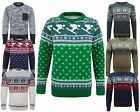 MENS KNITTED LONG SLEEVES JUMPER FAIRISLE SKI POCKETED TOP PULLOVER SWEATER 8-14