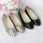 New Fashion Women's Casual Sexy Crackle Flat Ballet Slip On Flats Shoes Loafers