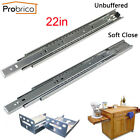"1-15Pairs 22"" Soft Close Ball Bearing Full Extension Drawer Slides or Brackets"