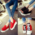 New Fashion Womans Chunky Block Heel Creeper Ankle High Platform Sandals Shoes