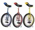 "FoxHunter 20"" Unicycle Chrome Plated Wheel With Free Stand and Spare Inner Tube"