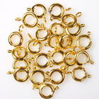 50/250pcs 161429 Wholesale Plated Golden Charms Lobster Clasps Findings 11x7mm