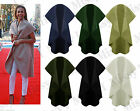 Womens Italian Sleeveless Waterfall Drape Cape Waistcoat Blazer Cardigan Coat