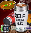 Stainless Steels Electric Automated Mixing Stirring Mug 500ML Tea Coffee Office