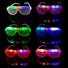 Flashing Retro LED Shutter Style glasses slotted for adults kids parties raves