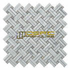 """Marble Mosaic Tile, """"Knot Collection"""" MM 7201 - Basket, Strip and Dot, Polished"""