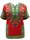 eaonplus Unisex COTTON DASHIKI Kaftan Tunic Top RED Sizes 16 to 28 PLUS SIZE