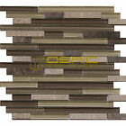 "Glass and Stone Mosaic Tile, ""Chocolate Collection"" GM 2203 - Strip, Strips"