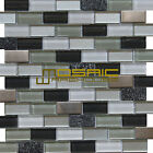 "Glass, Stone, and Metal Mosaic Tile, ""Vermont Collection"" GM 3102 - Brick"