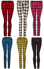 TARTAN SKINNY JEANS TROUSERS CLASSIC PUNK ROCK EMO JAWBREAKER ALL COLOURS XS-XL