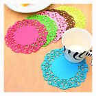 Set of 4 - Drinking Glass Silicone Coaster Cup Mug Cushion Tabletop Protection