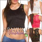 NEW SEXY SLEEVELESS LACY CROP TOP online XS S M L XL WOMEN'S CROPPED LACE SHIRTS