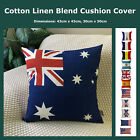 World Country National Flag Cotton Linen Cushion Cover Decorative Pillow Case
