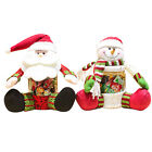 2015 Snowman Santa Clause Cylindrical Storage Tank Candy Can Box Decoration Gift