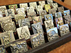 """vntg Old 3D 1"""" DISCONTINUED Leather Stamp TOOLS Craftool Midas LOT clay stamps"""