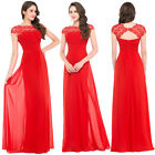 RED Chiffon Sexy Women Long Maxi Applique Cocktail Bridesmaid Evening Prom Dress