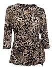Plus size Wrap Top Animal Print