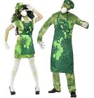 Couples Mens Ladies Zombie Bio-Hazard Toxic Waste Halloween Costumes Outfits