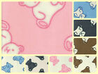 "Anti-Pil Polar Fleece Fabric - Teddies Bears -59"" (150cm) wide - per metre/half"