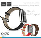 HOCO Elite Cowhide Leather Apple Watch Band Loop Strap 314L Stainless Buckle