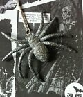 HALLOWEEN SPOOKY HIPSTER WITCH GOTH SPELL GLITTER SPIDER NECKLACE