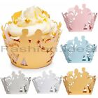 Laser 60 Cupcake Wrappers Liners Birthday Wedding Cake Wrapper Wraps 5 Color #FV