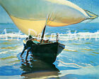 The Spanish Boat-Rider - CANVAS OR PRINT WALL ART