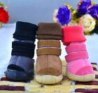 PETSOO Foldable Suede Dog Snow boots Lining Sherpa Pet Shoes XS-XL 5 Size