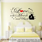 I love You to the Moon and Back Wall art Stickers Family Quote Vinyl Decals