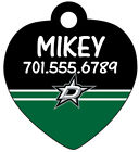 NHL Team Pet Id Tag for Dogs & Cats Personalized w/ Your Pet's Name & Number