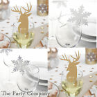 Christmas Glass Table Decorations  Place Name Cards  Xmas Party Table Settings