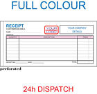 PERSONALISED DL RECEIPT BOOKS / DUPLICATE / NCR, 50 SETS / PAD