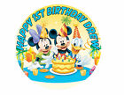 Round Mickey and Friends Birthday Party Cake Decoration icing sheet