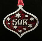 50K Ultra Marathon Runner Christmas Ornament in Fine Pewter made in the USA