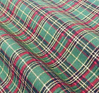 Green Tartan Christmas Fabric 100 % cotton  per 1/2 mtr or per FQ Rose & Hubble