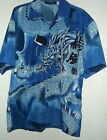 NEW ANGRY DRAGON HAWAIIAN SHIRT by L A BEAT sz M or XL