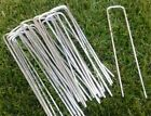 GALVANISED Artificial Grass Membrane Fixing Pins Metal Pegs Staples Weed Garden