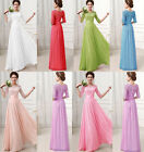 UK New Chiffon Formal Evening Party Ball Gown Prom Bridesmaid Wedding Dress