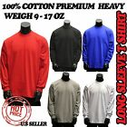 BIG AND TALL HEAVYWEIGHT PLAIN LONG SLEEVE CREW NECK SHIRTS T SHIRT SIZE M-5XL image