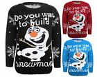 Kids Knitted Do You Want Build A Snowman Christams Xmas Olaf Jumper Top Sweater