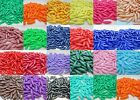 100 - 6mm x 19mm Opaque Spaghetti beads Made In USA - Choice of Color