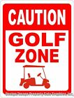 Caution Golf Zone Sign. Size Options. Fun Gift for Golfers,  Bar Area