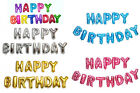 """16"""" Foil Helium Letter Balloons Set of Happy Birthday Party Decoration 6 Colors"""