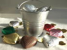 Mini Metal Wedding Favour Metallic Bucket Samples, Plain  Heart 99p ea 7 colours