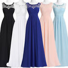 ST Sleeveless Long Formal Bridesmaid Chiffon Ball Gown Evening Prom Party Dress