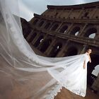 IVORY WHITE 1 tier 2tier bridal wedding lace veil with comb 3M 4M 10M 20M CUSTOM
